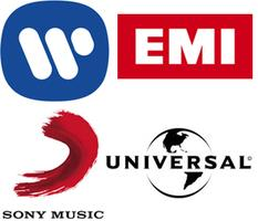 the Big Four major record labels music