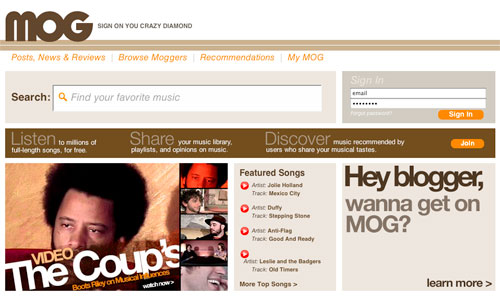 mog music website